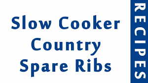 slow cooker country spare ribs easy low carb recipes diet