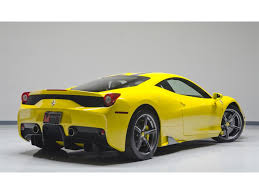 ferrari yellow car 2014 ferrari 458 speciale for sale in nashville tn stock