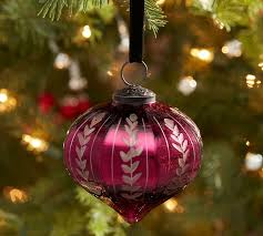 etched mercury glass ornaments pottery barn