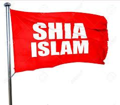 Islam Flag Shia Islam 3d Rendering A Red Waving Flag Stock Photo Picture
