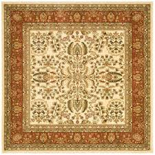 10 Square Area Rugs Safavieh Lyndhurst Ivory Rust 8 Ft X 8 Ft Square Area Rug