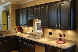 Images Of Kitchens With Black Cabinets Kitchen Captivating Oak Cabinets Painted Black As A Diy Project