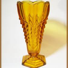 Yellow Glass Vase Antique And Vintage Glassware Collectors Weekly
