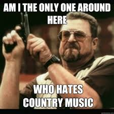 Country Meme - am i the only one around here who hates country music im i the