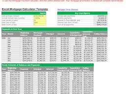 Amortization Schedule Excel Template 28 Mortgage Payment Calculator Excel Template