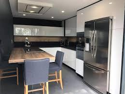 cuisine du frigo gorge cuisine avec frigo noir design logiciel sur americain dans