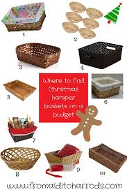 where to find christmas hamper baskets on a budget hamper
