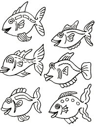 fish color sheet free printable kiddo shelter