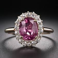 pink sapphires rings images Pink sapphire ring in oval cut from gemone diamonds online for sale jpg
