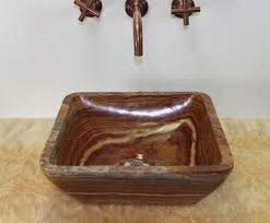 soluna red onyx square vessel bathroom sink sinks gallery