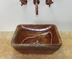 Onyx Bathroom Sinks Soluna Multi Brown Round Onyx Basin Flat Rim Sinks Gallery