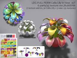 Calla Lily Vase Life Second Life Marketplace Ldg Full Perm 942 Calla Lily In Vase 6