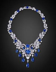 platinum necklace with diamonds images Graff sapphire diamond and platinum necklace jewelry i love jpg