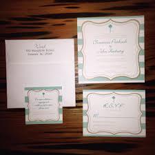 wedding invitation rsvp accomodations stripes gold teal palmetto