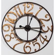 Home Design Gold For Pc Large Metal Wall Clock Black With Gold Numbers Pc Accessories