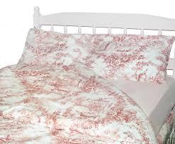 vintage girls bedroom design with pink toile bedspreads toile de