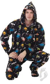 in space hoodie one hooded footed pajamas one