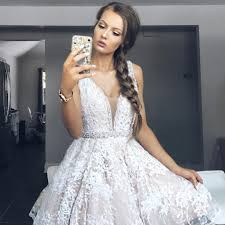 white lace prom dress charming a line v neck white lace prom dress homecoming