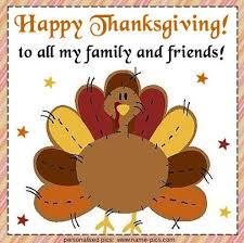 happy thanksgiving to all my family and friends clipart image
