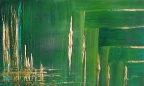 Green Paint by Background Green And Gold Acrylic Paint Youtube