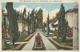 a 1920s bungalow court in los angeles very similar to the court i
