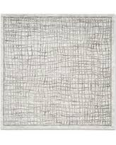 8 Foot Square Rug by Deal Alert Safavieh Adirondack 10 U0027 Square Area Rug In Silver Ivory