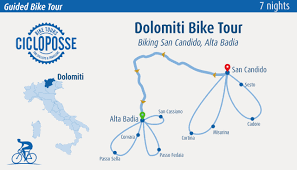 Dolomites Italy Map by Dolomites Bike Tour Cycling Italian Alps Cicloposse