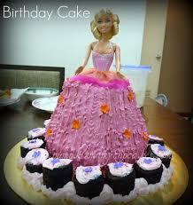 pumpkinmumycupcakes birthday cake barbie doll kak yus