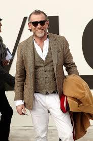 alessandro squarzi wearing camel overcoat brown wool blazer