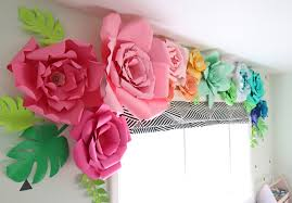 Paper Flower The Craft Patch Giant Paper Flower Window Treatment