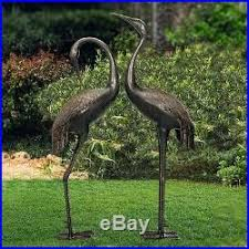 garden cranes gifts set of 2 crowned cranes metal garden