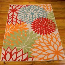 Floral Outdoor Rug Outdoor And Patio Rugs Touch Of Class