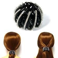 bun holder 2pcs silver black plastic expanding ponytail bun