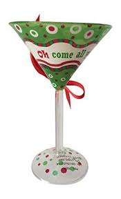 ganz martini glass ornament oh come all ye thirsty