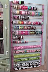 ribbon holders 14 breathtaking craft room ideas ribbon storage storage ideas