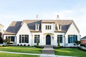 french farmhouse style exterior transitional with transitional