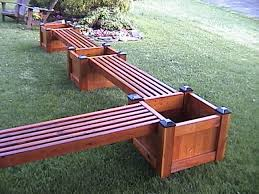 Outdoor Wooden Bench Plans by Image From Http Www Cedarpicnictables Com Images Planter Bench3