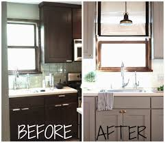 painting kitchen cabinets before after furniture home painted kitchen cabinets before and after