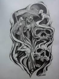 skull half sleeve designs half sleeve design by