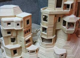 toothpick house one man is building a toothpick city and it s insane
