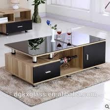 Living Room Furniture Glass Top Tea Table Center Table Design - Tea table design