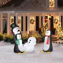 Blow Up Christmas Decorations At Walmart by Walmart Airblown Inflatables 5 U0027 Keep Away Snowman Combo Pack