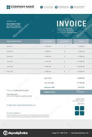Illustration Invoice Template Business Invoice Template A Mdxar