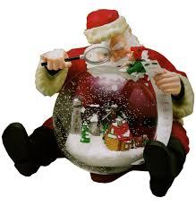 mr christmas gold label santa holiday snowfall globe motion