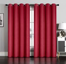 Magenta Curtain Panels Pair Of Susan Blackout Embossed Window Curtain Panels W Grommets