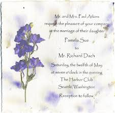 6x6 invitation with pressed flowers