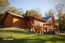 golden eagle log and timber homes log home cabin pictures prow feature wall screened porch walkout basement exterior