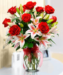 roses and lilies starry eyed beautiful roses and dazzling stargazer lilies are
