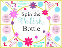 spin the nail polish bottle printable game girls party game