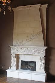 beautiful white high limestone fireplace mantels design ideas with
